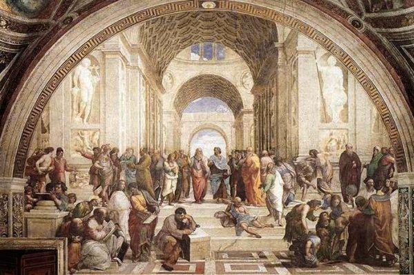 Escuela de Atenas, Rafael